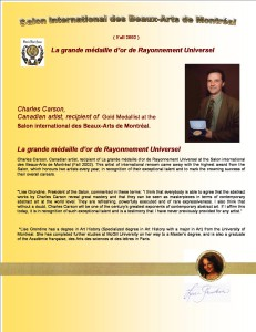 53 pages     Salon des Beaux Arts de Montréal 2002