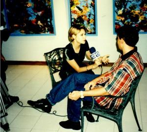 Entrevue Télé à la Galerie Arte Autopiste,  Charles Carson