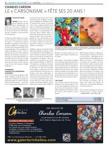 Journal ECHOS_Sept 2012 - Le Carsonisme fête ses 20 ans