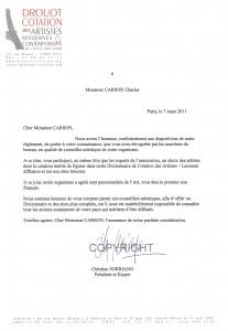 Drouot Nomination Carson