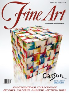1- Charles Carson  Cover - Fine Art Magazine - New York USA 2012-2013
