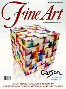 Fine Art Magazine, New York, Hommage à Maître Carson, en couverture plus 22 page sur l'artiste.