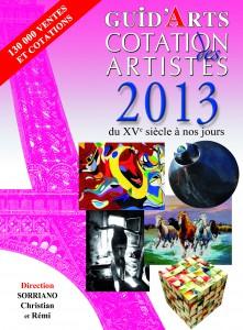 """DICTIONNAIRE DROUOT COTATION  2013 En couverture """"Sculpture cube mosaïque"""" du maître en beaux-arts Charles Carson"""