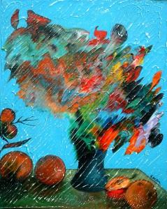 Oeuvre Carsonisme - 20 x 16 po - Acrylique sur toile