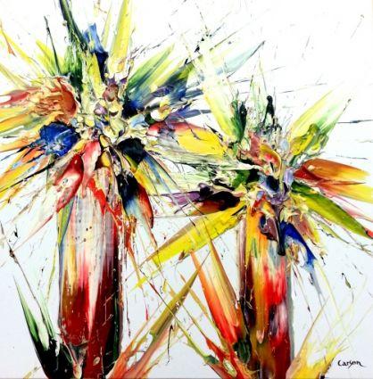 Bouquet fleurs - SOLD/VENDU