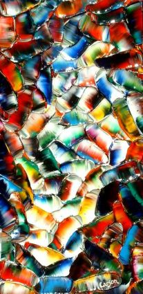 Rivière aux reflets colorés