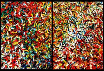 Abstrait Diptyque